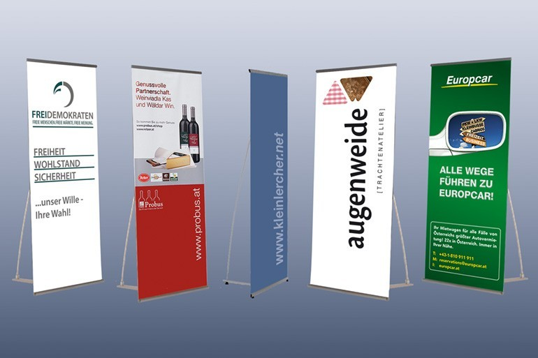 Displays, Bannerdisplay, Faltdisplay, Messewände, mobile Messestände